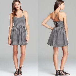 Guess black and white striped Monaco dress